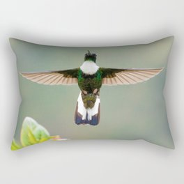 Collared Inca Hummingbird Flight Rectangular Pillow