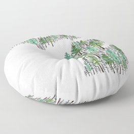 Michigan Forest Floor Pillow