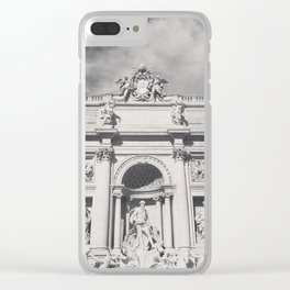 Trevi Fountain, black & white photography of Rome, fine art architecture, italian architectural love Clear iPhone Case