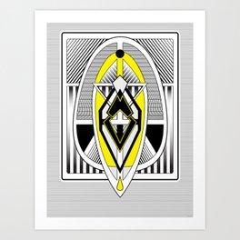 The Wasp - Art Deco Minimalist Design Art Print