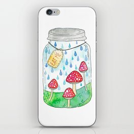 Mushrooms in Mason Jar iPhone Skin
