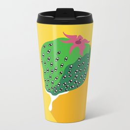 Greeneyed Strawberry Metal Travel Mug