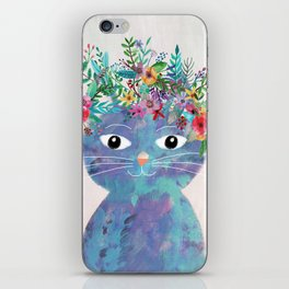 Flower cat II iPhone Skin