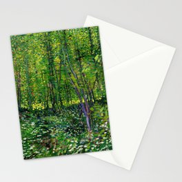 Vincent Van Gogh Trees and Undergrowth 1887 Stationery Cards