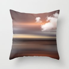 SEASCAPE - abstract landscape in glowing copper tones Throw Pillow