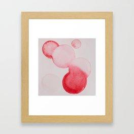 Pink Dots Framed Art Print