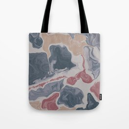 Abstract Liquid Geode Tote Bag