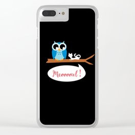 Meoooowl Clear iPhone Case