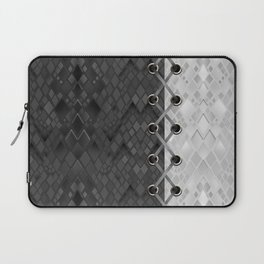 Lacing . 1 . Black and white snake. l Laptop Sleeve