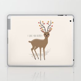 I love you deerly Laptop & iPad Skin