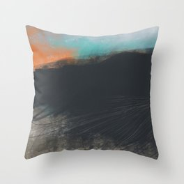 Peak District Moorland Sunset Throw Pillow