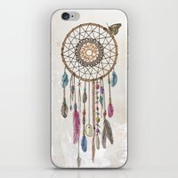 catcher in the rye iPhone & iPod Skins featuring Lakota (Dream Catcher) by Rachel Caldwell