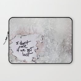 I don't care if we get lost Laptop Sleeve