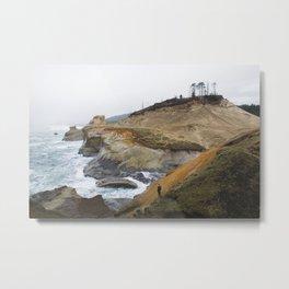 Cliffs of Cape Kiwanda Metal Print