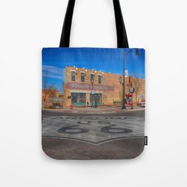 Standin on a corner in Winslow, Arizona Tote Bag