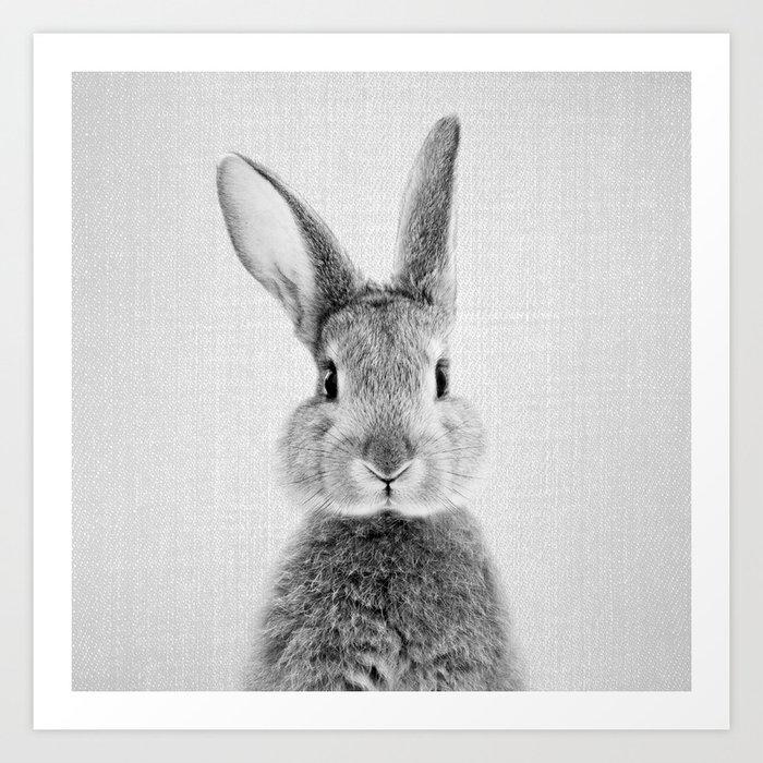 Rabbit - Black & White Kunstdrucke