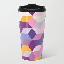 Violet Pattern Metal Travel Mug