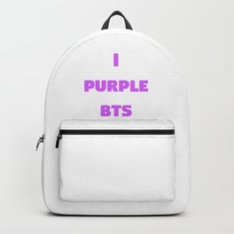 i purple bts Backpack