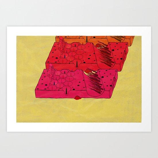 INDUSTRIAL CHEESE Art Print