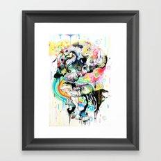 Ink Fight Colors Framed Art Print
