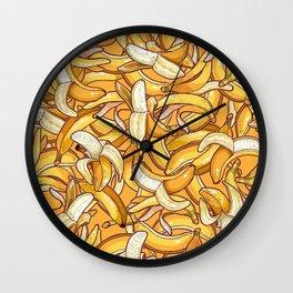Yellow banana dream. Wall Clock