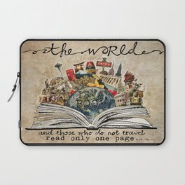 The World Is A Book Laptop Sleeve