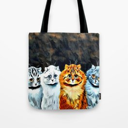 "Louis Wain's Cats ""Five Cats"" Tote Bag"