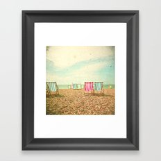Deckchairs Framed Art Print