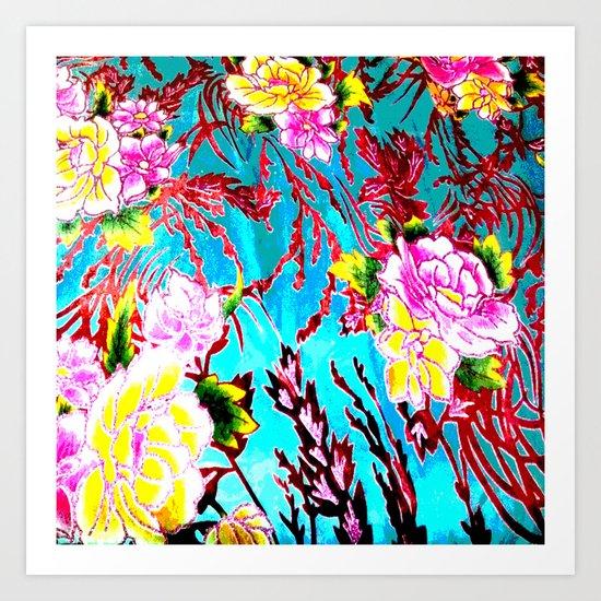 Coral Roses Art Print