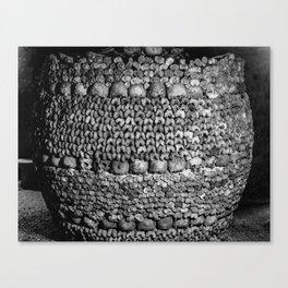 Barrel of Bones Canvas Print
