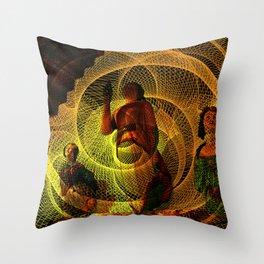 The three figureheads Throw Pillow