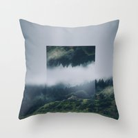 witchoria Throw Pillows featuring I get nervous.  by witchoria