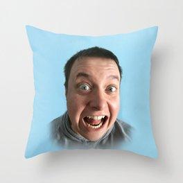 MY FACE Throw Pillow