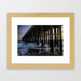 Sunset Pier Framed Art Print