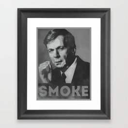 Smoke! Funny Obama Hope Parody (Smoking Man)  Framed Art Print