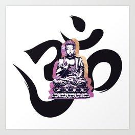 Ohm Buddha Sunset Art Print