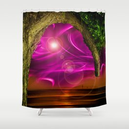 Sunset -Sunrice Shower Curtain