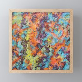 Playing colors Framed Mini Art Print