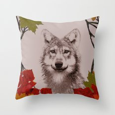 among the leaves (evening) Throw Pillow