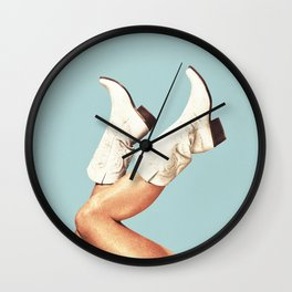 These Boots - Blue Wall Clock