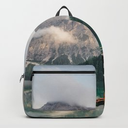 Mountain Lake Cabin Retreat Backpack