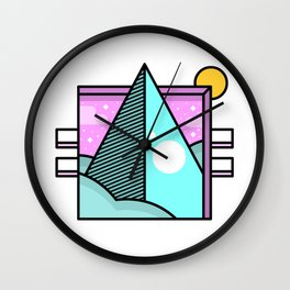 Retro Pop Pyramid Wall Clock