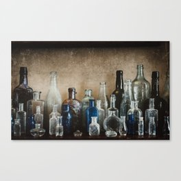 Primitive Bottles Canvas Print