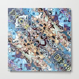Colorful Chaotic Pattern Metal Print