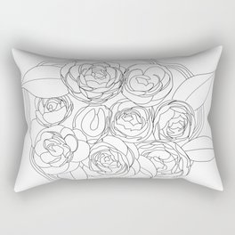 Line Flowers Rectangular Pillow