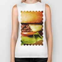 hamburger Biker Tanks featuring Hamburger by Mauricio Togawa