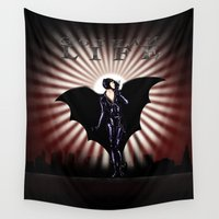 gotham Wall Tapestries featuring Gotham Life by Spicy Monocle