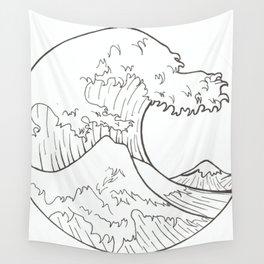 The wave of Kanagawa Wall Tapestry