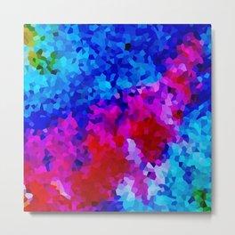 Rock Candy Blue Tie Dye. Metal Print
