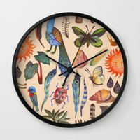 tropical Wall Clocks featuring Tropical by Vladimir Stankovic